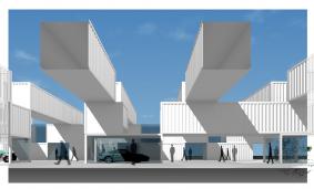 スケートリンク広場計画 (コンテナ建築)