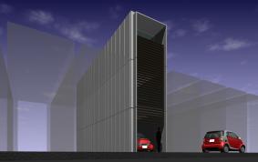 電気自動車と住む家(コンテナ建築)